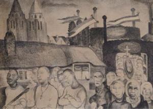 Et-Art-Producties kunsteducatie Singer Laren Origineel Kruyder schilderijen